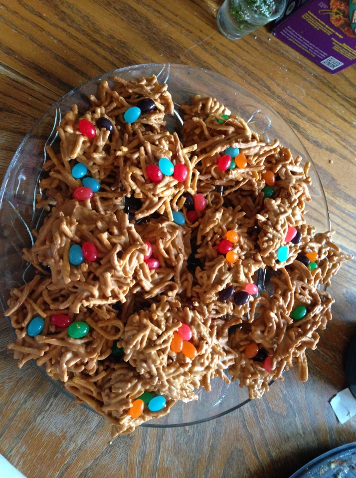 A plate of Easter nests.