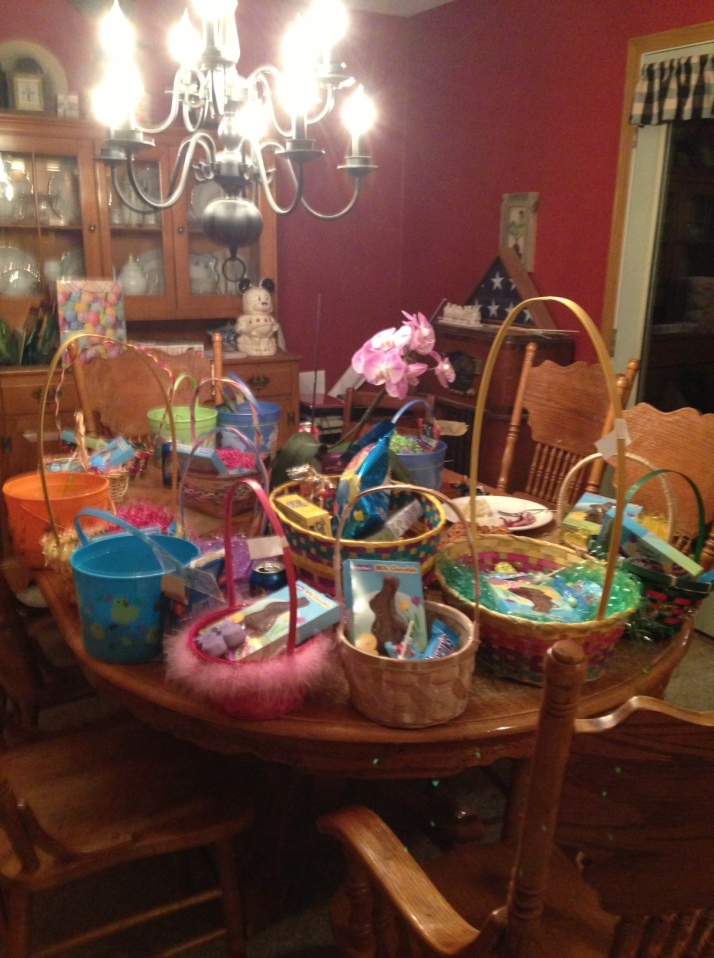 Too much Easter candy!  We are so blessed to have a wonderful family.