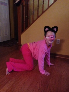 S as Wilbur the pig for fictional character day