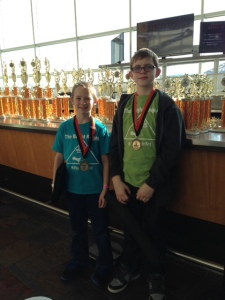 T and S after finishing up the chess tournament.